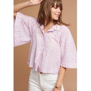 Maeve Flowy Top in Orchid from Anthropologie